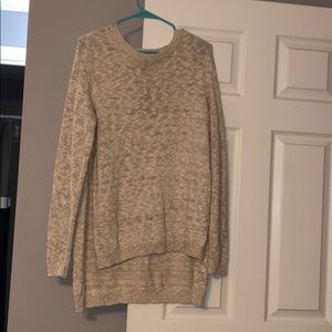 NWT Cream high low sweater from Express